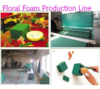 Complete floral foam block  production line plant machine with technology