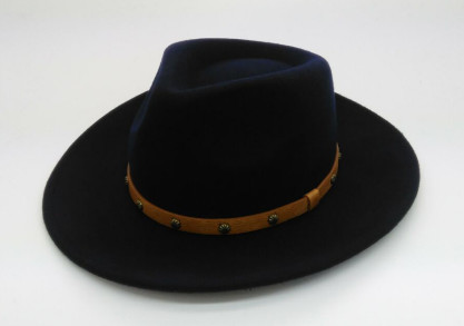 high quality wool felt homburg hat 100% wool