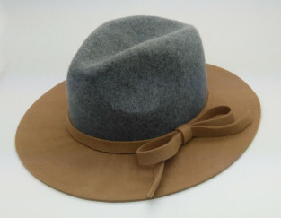 high quality women's wool felt homburg cap
