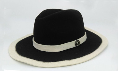 high quality girl's wool felt homburg hat