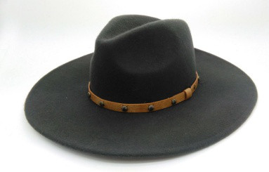 wool felt hat wide brim men hats fedora