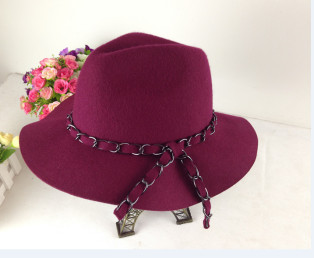 new design winter pure wool felt fedora cap