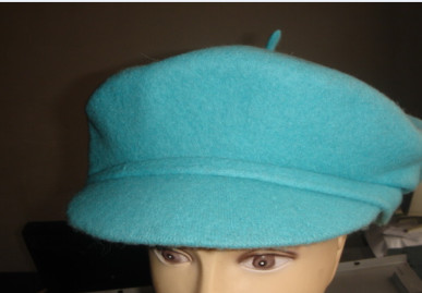 lighg blue high quality wool beret for ladies