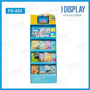 Customized Paper Material POS Display Rack With LCD For Sales Promotions