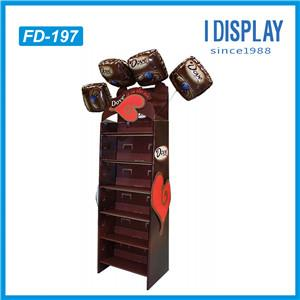 4 Tier RecycLED Corrugated Paper Carton Cardboard Food Display Stand