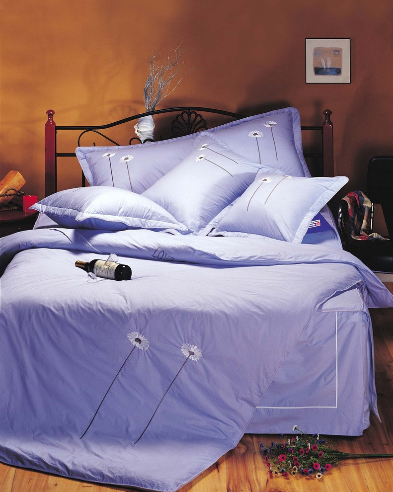 New design solid 100% cotton bed linen/sheet