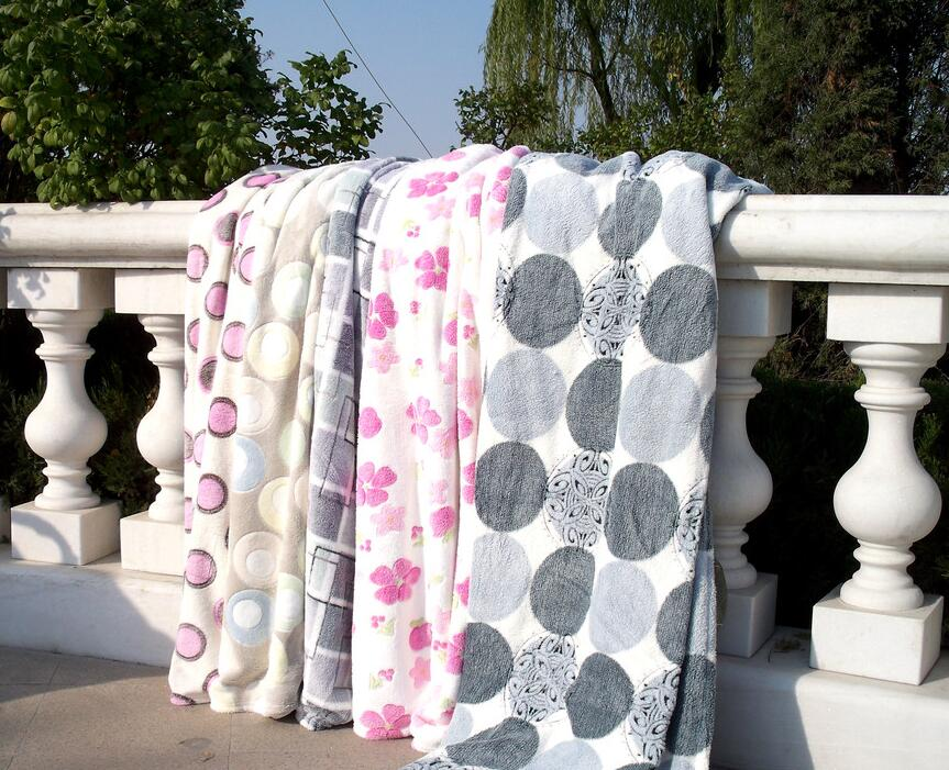 Wholesale 100% Polyester non-flammable mink flannel blanket