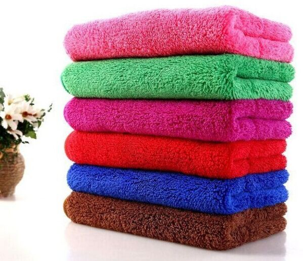 100% polyester Microfiber polar fleece towels