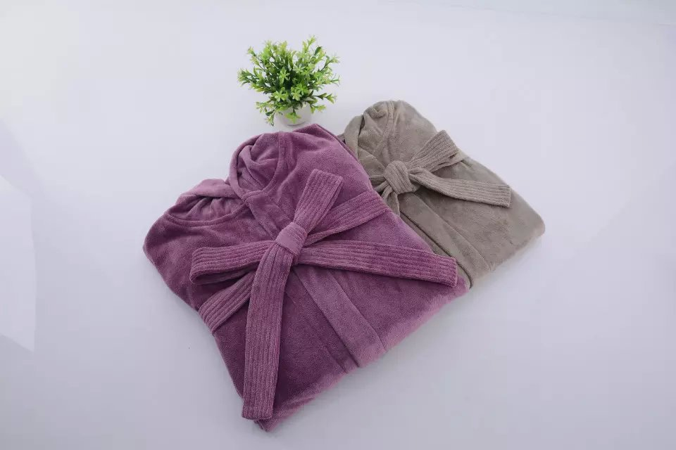 Hotel High Quality Microfiber Coral Fleece Bathrobe
