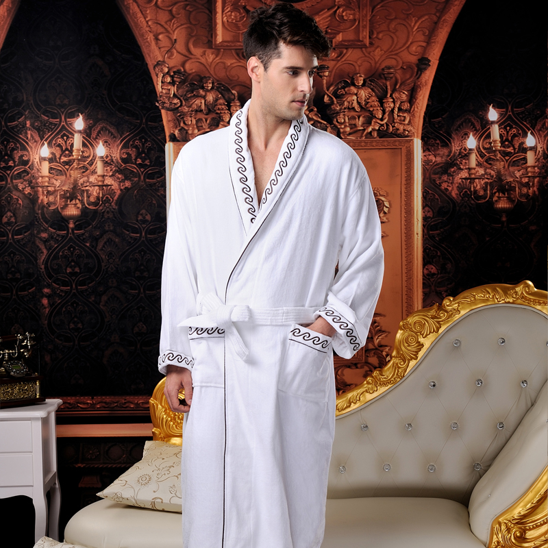 100% cotton hotel terry bathrobe