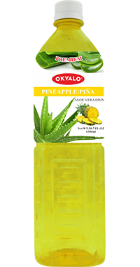 OKYALO 1.5L Pineapple Aloe Gel Drink