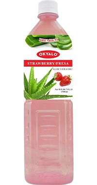 OKYALO 1.5L Strawberry Aloe Vera Drink