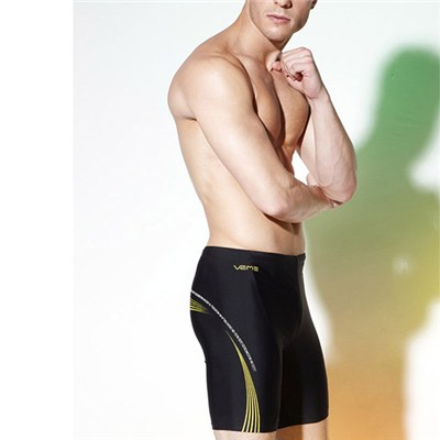 Racing Training Swimming Trunk Jammer Swimwear Fifth Pants, Swimming Jammers Knee Length Male Swimsuits Trunks Bathing Suits
