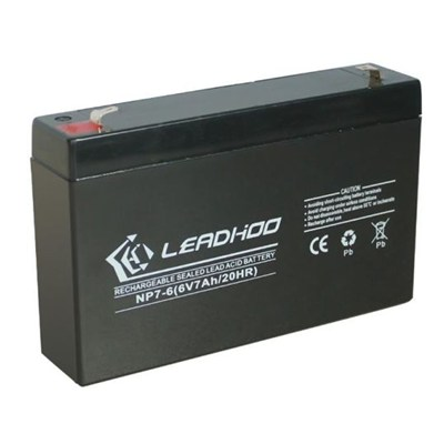 AGM VRLA Battery, 6V, 7Ah, Maintenance-free
