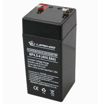 4V/4.5AH Electric Scale Sealed Maintenance-free Rechargeable VRLA Lead-acid Battery Series