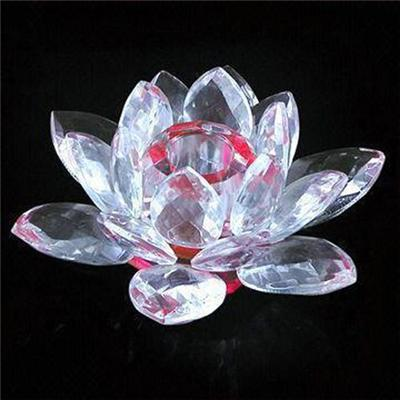 K9 Crystal Lotus Candle Holder For Promotional Gifts