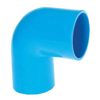 HIGH QUALITY UPVC JIS K-6743 PRESSURE ELBOW 90° WITH BLUE COLOR