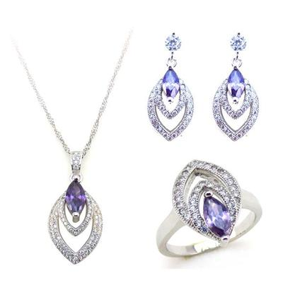 Luxury Micro Pave Fashion Bridal Wedding Jewelry Set With Beautful Cubic Zirconia