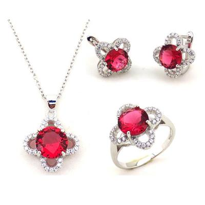 925 Silver Women Necklace Jewelry Set With AAA Zircon