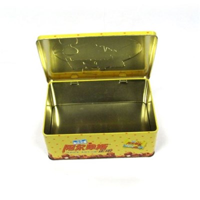 Big Rectangular Arched Lid Candy Mint Food Storage Tin Box