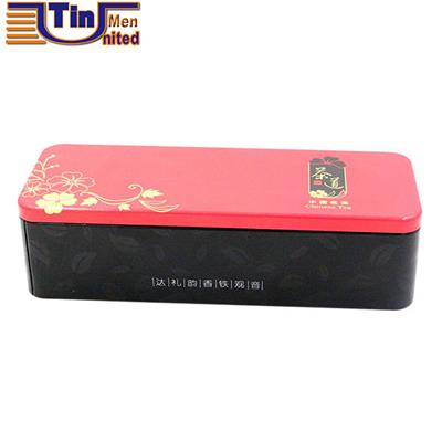 Big Rectangular Emollient Water Embossing Logo Tin Box
