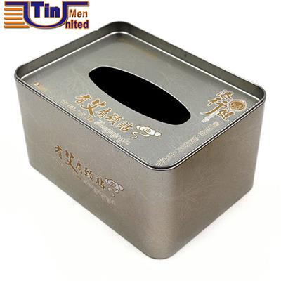 Middle Rectangular Clinched Bottom Medicine Packaging Tissue Tin Box