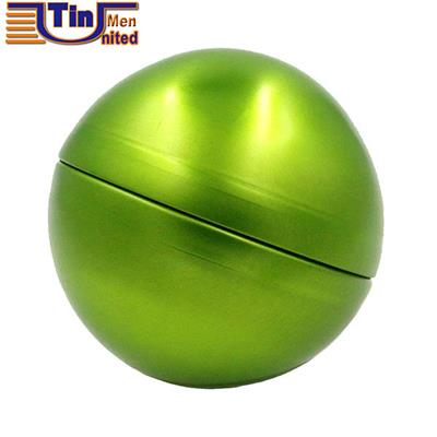 Big Round Two Pieces Ball Shape Mint Candy Chocolate Biscuit Canned Food Tin Box