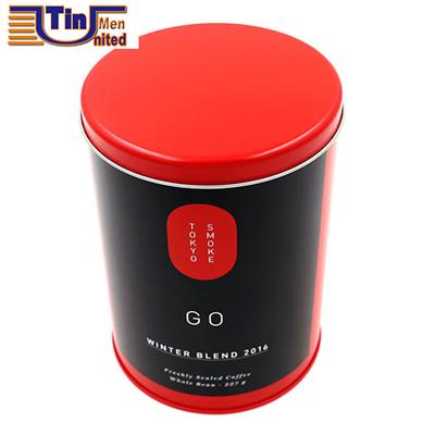 PMS Large and PMS Red Middle Round Tea Storage Arch Lid Tin Canister
