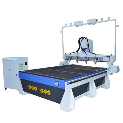 Aluminum T-slot Cnc Table Classical Furniture Wood Carving Multi Head 3d Cnc Router