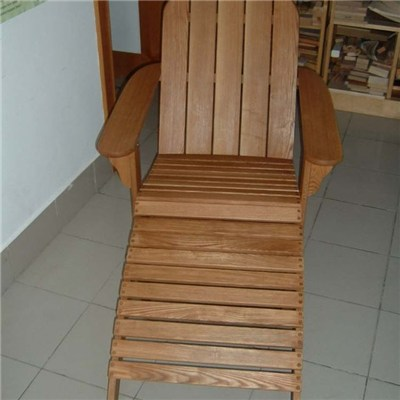 Garden Furniture Wood ADIRONDACK Chair And Foot Rest For Sale
