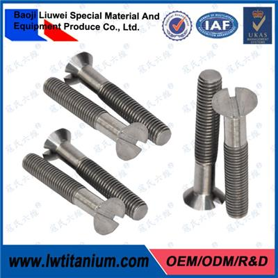 ANSI B18.3 Titanium Slotted Countersunk Head Screws