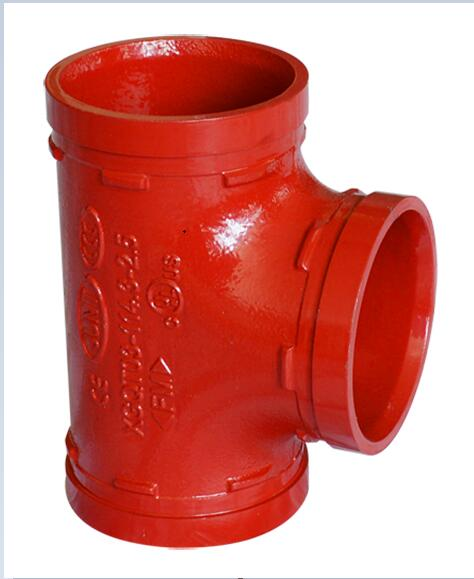FM UL Ce Approved grooved equal Tee Wpt Grooved Connection Pipe Fittings for Fire Protection