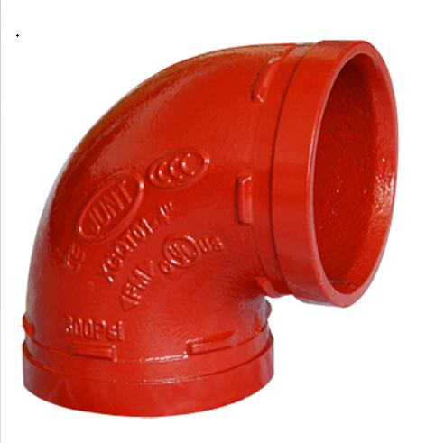ASTM A536 90 Degree Elbow Casting Ductile Iron Grooved Fittings