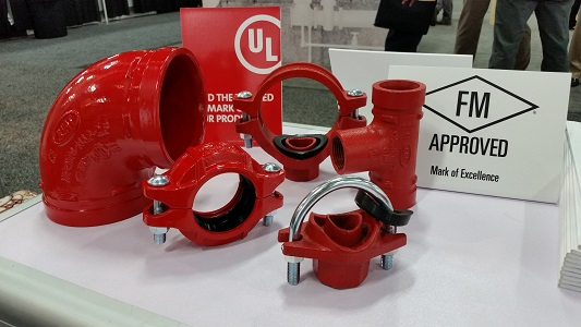 FM UL Ce Approved grooved flange Wpt Grooved Connection Pipe Fittings for Fire Protection