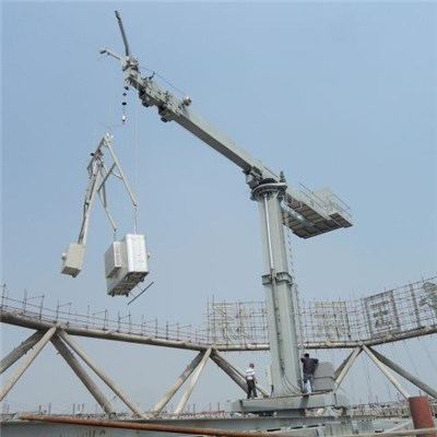 CABR Fixed Chassis BMU with Telescopic and Luffing Jib, Telescopic Column for High-rise and Super High-rise Building