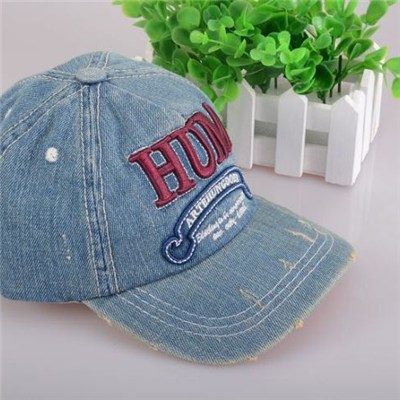 Fashionable Hip-hop Denim Spring And Summer Baseball Cap