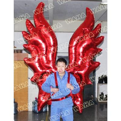 Shinny Red Inflatable Flame Costume Moving Inflatable Wing