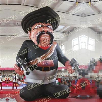 6m High Inflatable Cowboy With Gun Customized Design