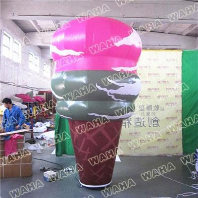 Big Inflatable Ice Cream Cone For Promotional Buffet Store