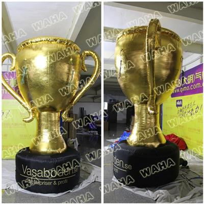 3m High Inflatable Cup Trophy For Champions League Or Football