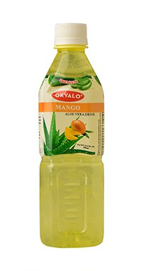 Okyalo Mango Aloe Vera Pulp Drink in 500ml, Okeyfood
