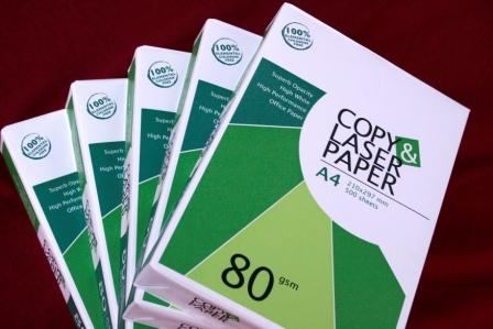 Laser / Copier A4 copy paper 80 , 75, 70 gsm $0. 50 USD per ream