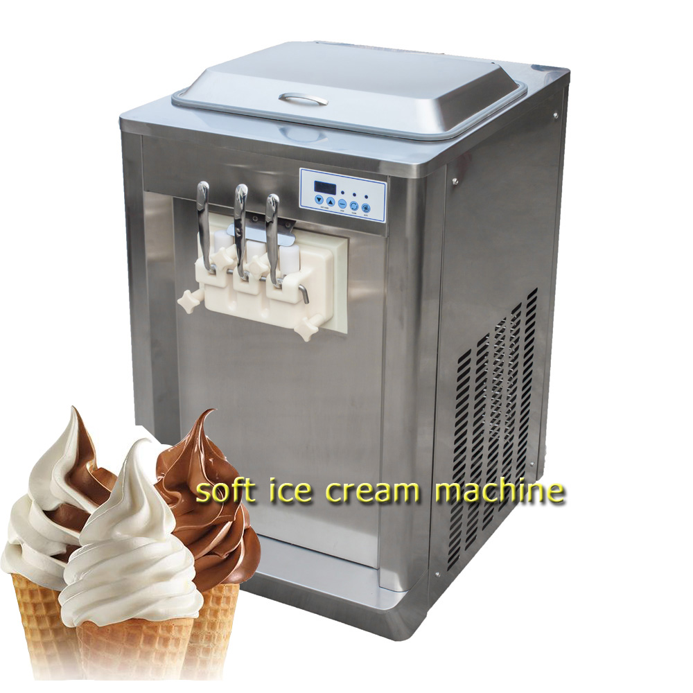 high quality counter top  3nozzles  soft  ice cream machine price