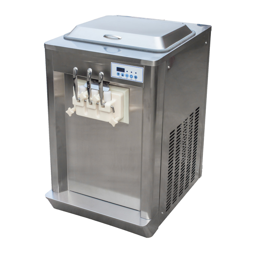 commercial counter top frozen yogurt ice cream machine with pre-cooling system