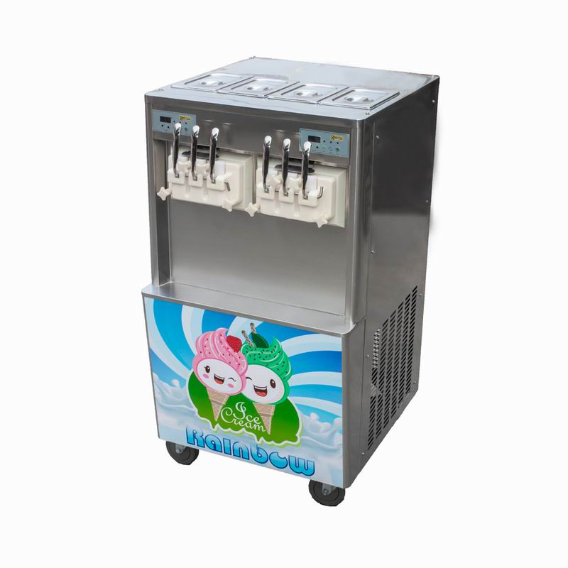 4+2mixed flavors double compressor soft serve ice cream machine wth factory price