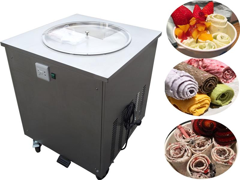 commercial single rould pan  fried rolls ice cream machine with CE