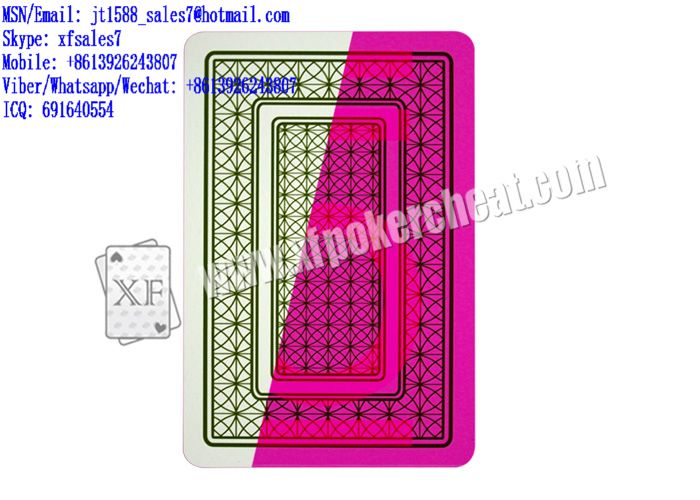 XF Four52 Plastic Playing Cards Marked With Invisible Ink For Poker Scanners Or Lenses Or Cameras / professional card cheat / casino gambling Devices / Playing Card cheating / gambling machines cheats