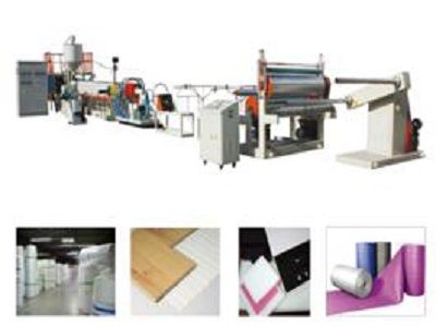 Expanded pe foam sheet extrusion line Polyethylene foam sheet extrusion line