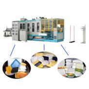 PS foam food container making machinery take-away food box production line