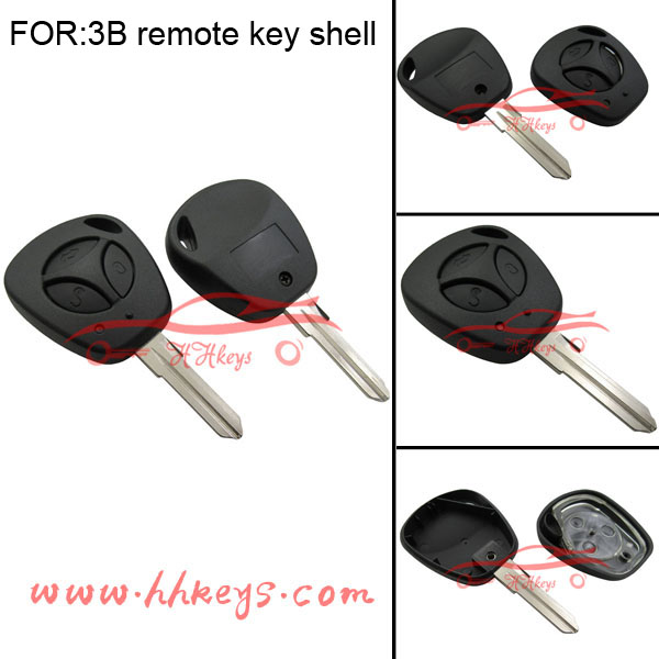 Car key Lada Kalina Priora with 3 button Remote Key Blank Shell Volga Lada
